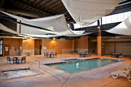 The swimming pool at or near Quinault Sweet Grass Hotel