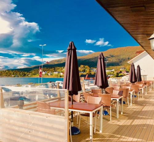 En restaurant eller et spisested på Enter Hotell Bjerkvik