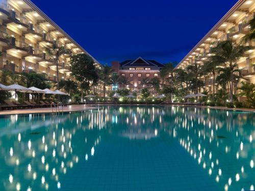 The swimming pool at or near Angkor Howard Hotel