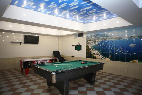 A billiards table at Erunin Hotels Group, Tolstogo 77