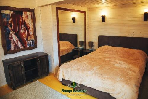 A bed or beds in a room at Poiana Bradului