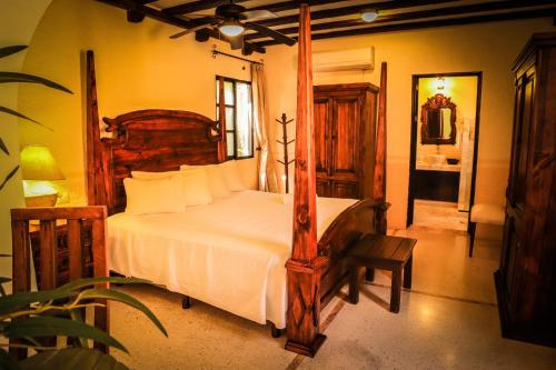 A bed or beds in a room at Casa Tia Micha