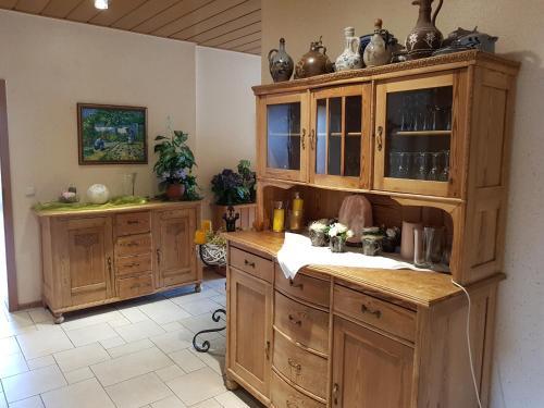 Küche/Küchenzeile in der Unterkunft Hotel zur Waage