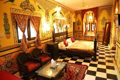 Coin salon dans l'établissement Singhvi's Haveli