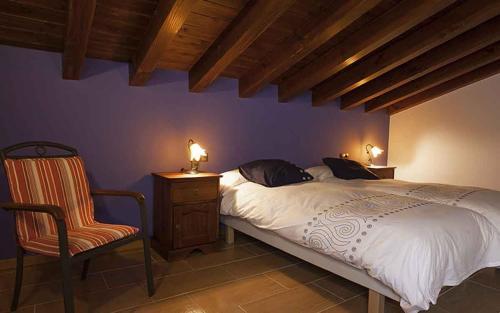 Letto o letti in una camera di Casa Rural Nazar