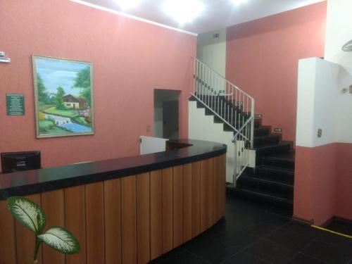 The lobby or reception area at Paulínia Park Hotel