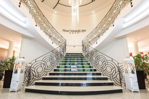 The lobby or reception area at Hotel Woiński Spa