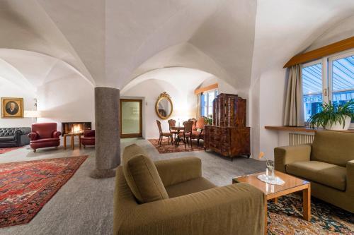 Area soggiorno di Boutique & Gourmet Hotel Orso Grigio