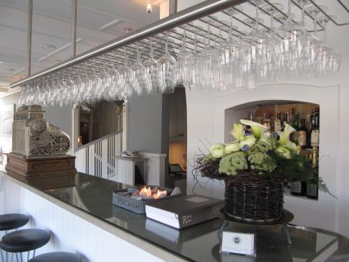 Lobbyen eller receptionen på Hotel Plesner