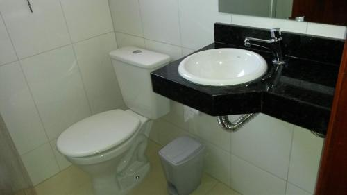 A bathroom at Hotel Moara