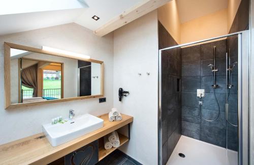 Ein Badezimmer in der Unterkunft Haus Christophorus