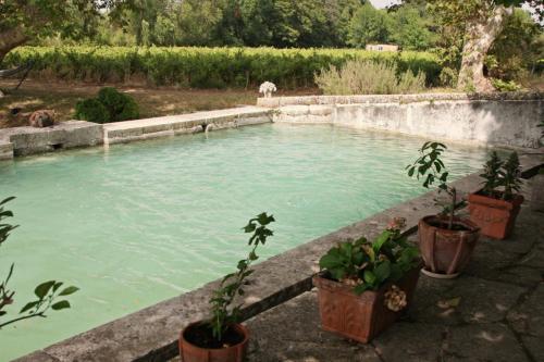 The swimming pool at or near B&B Domaine Le Clos du Pavillon