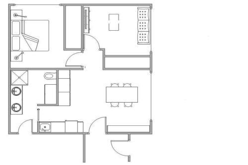 The floor plan of Buoys on Queens