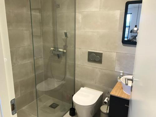 Et badeværelse på Egtved B&B