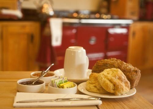 Breakfast options available to guests at Sandyhills Bed & Breakfast