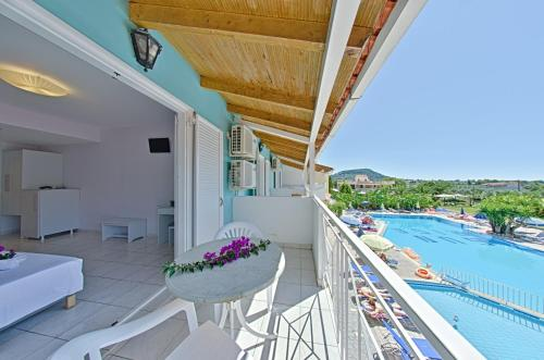 A balcony or terrace at Sun Rise Hotel - Adults Only