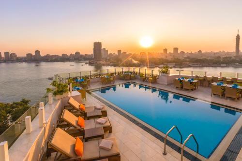 The swimming pool at or near Kempinski Nile Hotel, Cairo