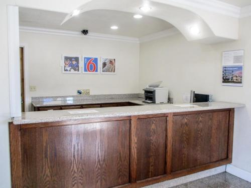 The lobby or reception area at Motel 6-Fresno, CA
