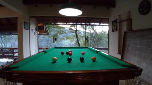 A billiards table at Casa Do Valle
