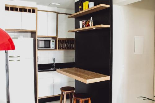 Una cocina o zona de cocina en Lindo apartamento (Ingleses/Santinho)