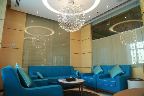 The lobby or reception area at Tulip Al Barsha Hotel Apartment