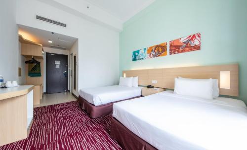 Cama o camas de una habitación en Prescott Hotel Kuala Lumpur Medan Tuanku