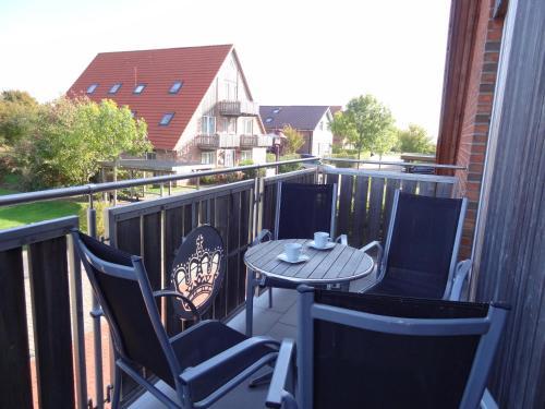 Ein Balkon oder eine Terrasse in der Unterkunft Ferienwohnungen Hass - Haus 1