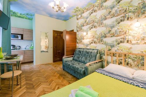 Гостиная зона в Apartments Lazur