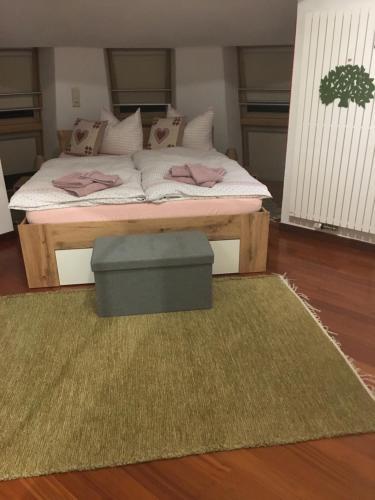 Letto o letti in una camera di Villa Alessandra