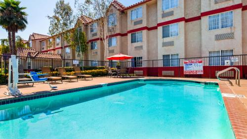 The swimming pool at or near SureStay Plus Hotel by Best Western Rocklin