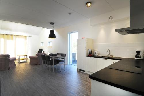 A kitchen or kitchenette at Vakantiehuizen 't Centrum