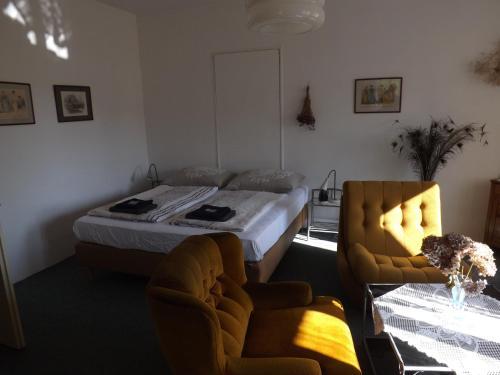 Posezení v ubytování Penzion Signum Laudis