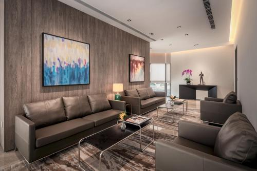 A seating area at Le Grove Serviced Residences (SG Clean)