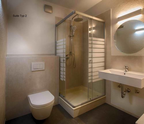 Een badkamer bij Hofgut Held