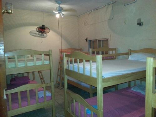 A bunk bed or bunk beds in a room at hostel estadio