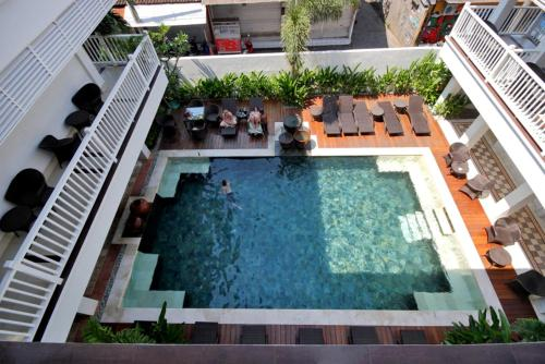 A view of the pool at Samsara Inn or nearby
