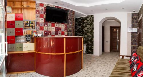 The lobby or reception area at Art house Hostel