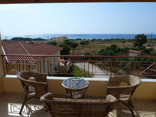 A balcony or terrace at Elafonisos Diamond Resort