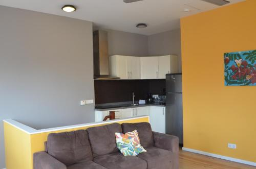 Uma área de estar em Dushi Pietermaai Apartments