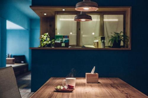 A restaurant or other place to eat at Star Hostel Taipei East