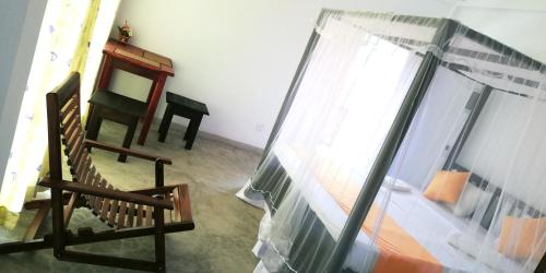 A bunk bed or bunk beds in a room at Ocean Voyage
