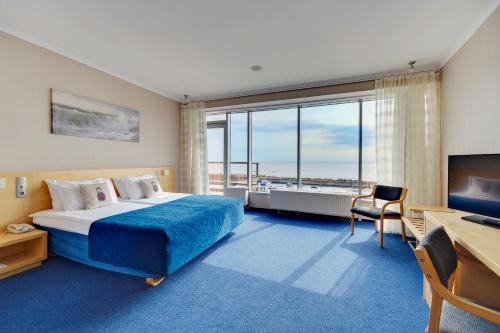 A seating area at Terijoki Resort Hotel