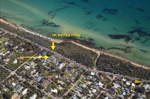 A bird's-eye view of Mt Martha Villas