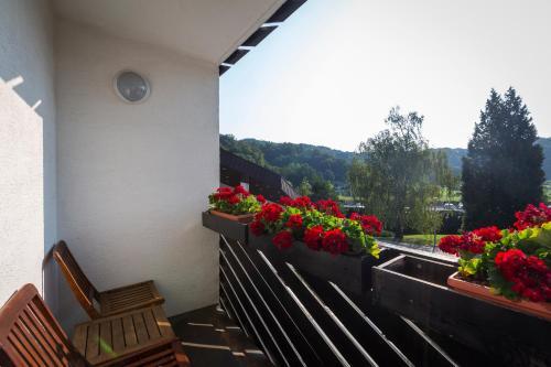 Ein Balkon oder eine Terrasse in der Unterkunft Terme Olimia - Hotel Breza