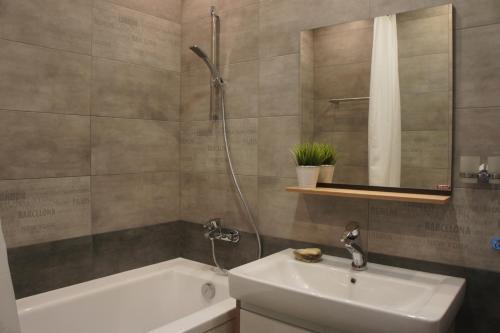 A bathroom at Astoria Club