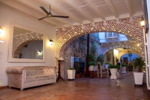 Coin salon dans l'établissement Casa Villa Colonial By Akel Hotels