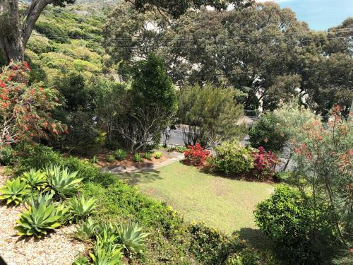 A garden outside Bay Beach House