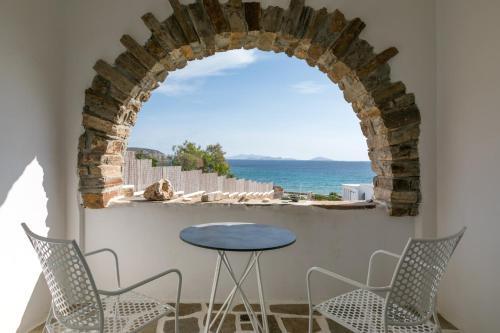 A balcony or terrace at Ostria Inn