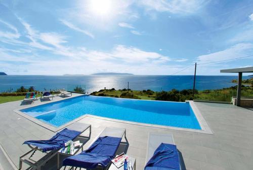 Der Swimmingpool an oder in der Nähe von Trapezaki Bay View