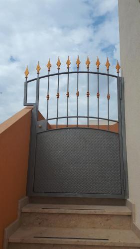 A balcony or terrace at Jürgens Apartament